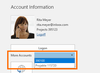 InLoox for Outlook: Select a different InLoox now! account