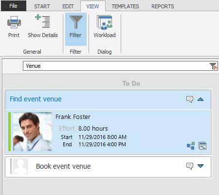 Task filter