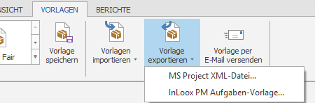 Vorlage exportieren