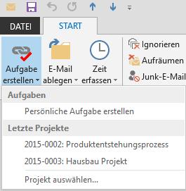 Aufgabe aus E-Mail erstellen