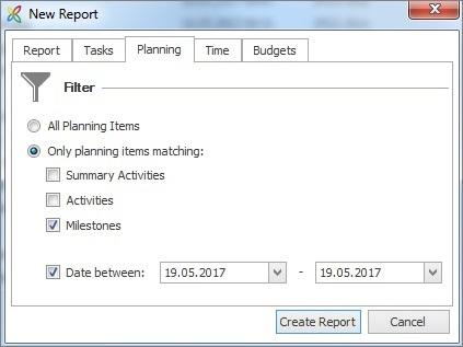 Planning filter