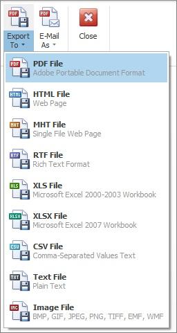 Output file types