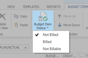 Budgets - Budget Item Status