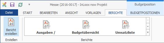 Budgets - Ribbon Budget Reports