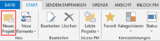 InLoox-Ribbon Neues Projekt