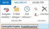 Hinweis, dass E-Mail als Dokument eines Projektes abgelegt wurde