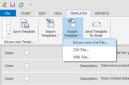 List templates