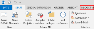 Outlook-Ribbon mit InLoox