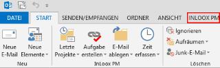 Outlook-Ribbon mit InLoox