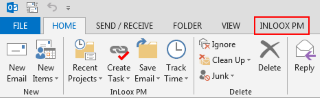 Outlook Ribbon with InLoox