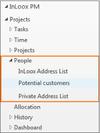Create, edit and delete address books