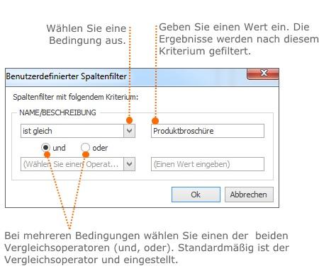 Erstellen Sie benutzerdefinierte Filter, um die Suche zu verfeinern