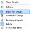 Resources - Expand all groups context menu