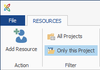 Resources - Project Show Only Workload for this Project