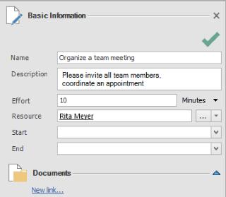 Side panel Edit task