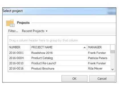 Assign your time tracking entry to a project