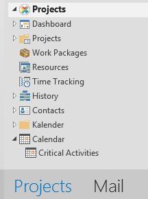 Access saved calendar views