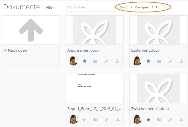 Dokumente - Dateipfad in Einfachem Modus