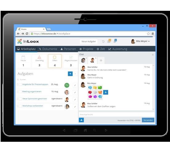 Teamkommunikation mit InLoox Web App