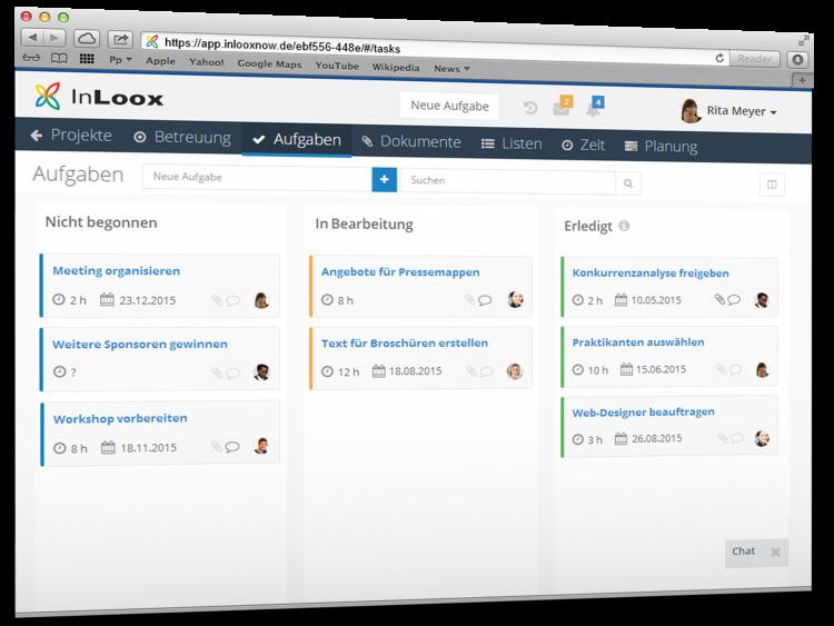 Projektmanagement im Web mit InLoox
