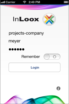 Login iPhone - InLoox