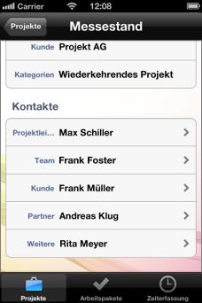 Projektkontakte - InLoox Mobile Apps