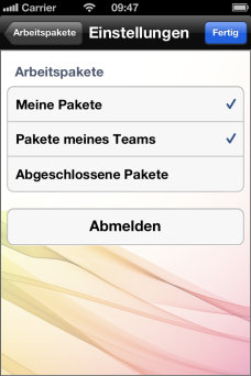 Zusammenarbeit - InLoox Mobile Apps