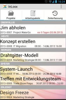 Arbeitspakete - InLoox Mobile Apps