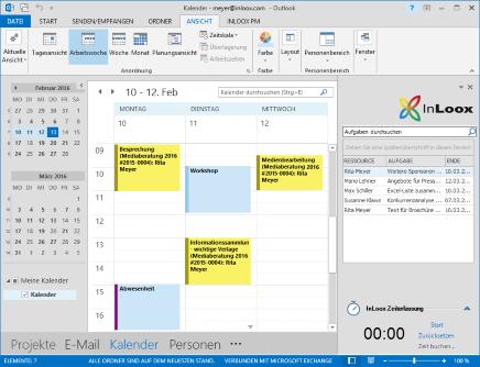 Verbindung von Outlook- und InLoox-Elementen