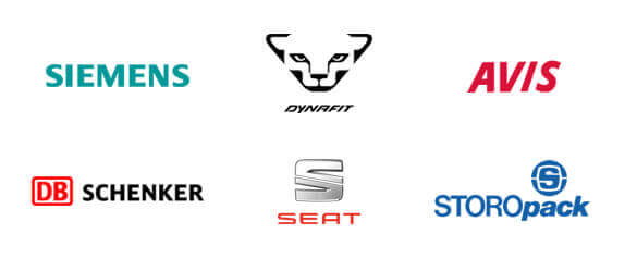 Diese Kunden vertrauen auf InLoox: Siemens, Dynafit, Avis, DB Schenker, Seat, Storopack und viele mehr