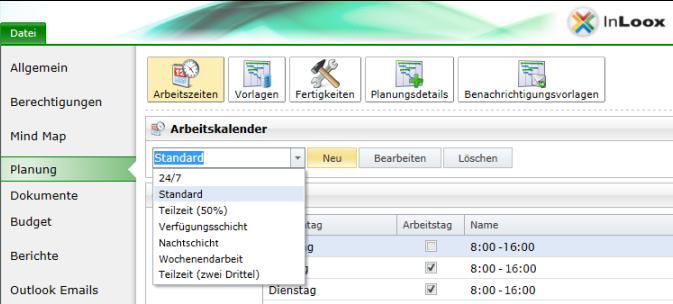 Arbeitszeitkalender