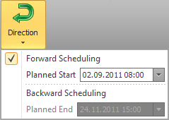 Backward Scheduling