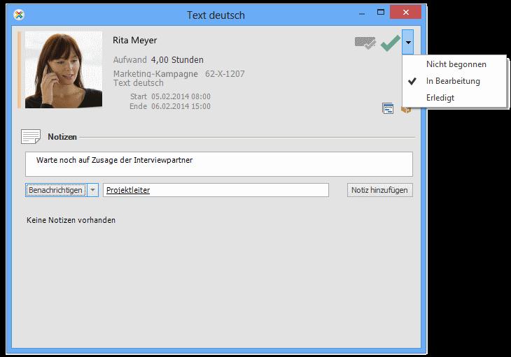Aufgabenmanagement mit InLoox PM: Arbeitspaket-Status