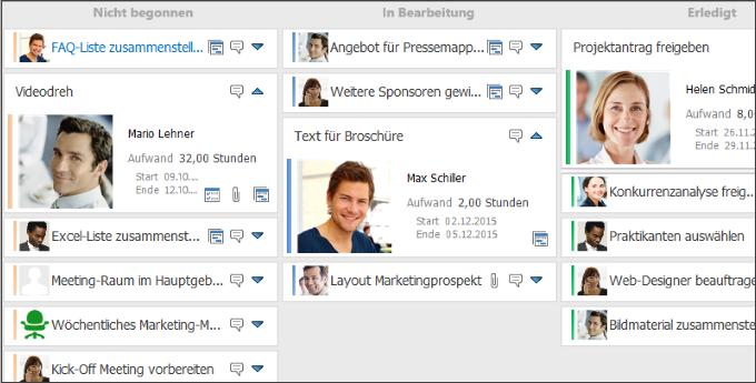 Aufgabenmanagement mit Kanban mit InLoox 9 für Outlook