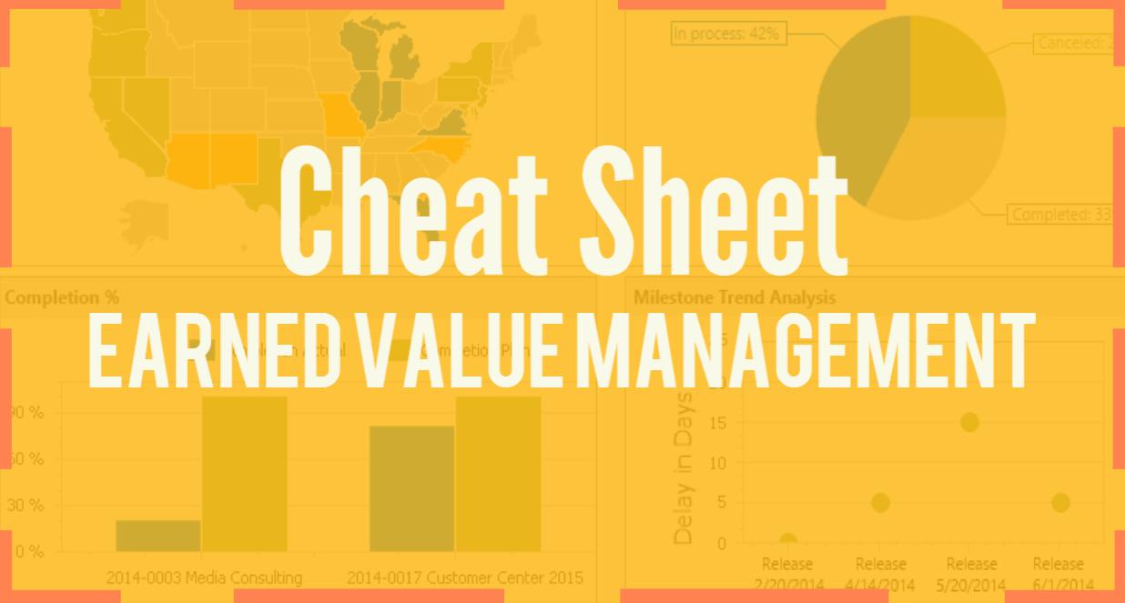 Earned Value Management Cheat Sheet