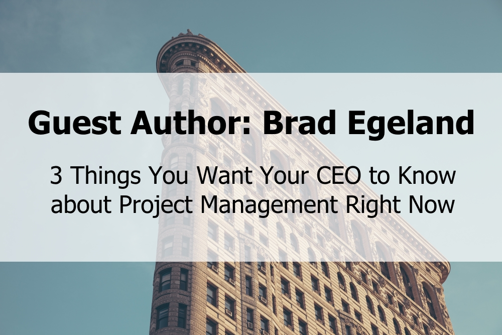 3 Things You Want Your CEO to Know about Project Management Right Now