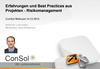 ConSol-Webcast zum Thema Risikomanagement in Projekten