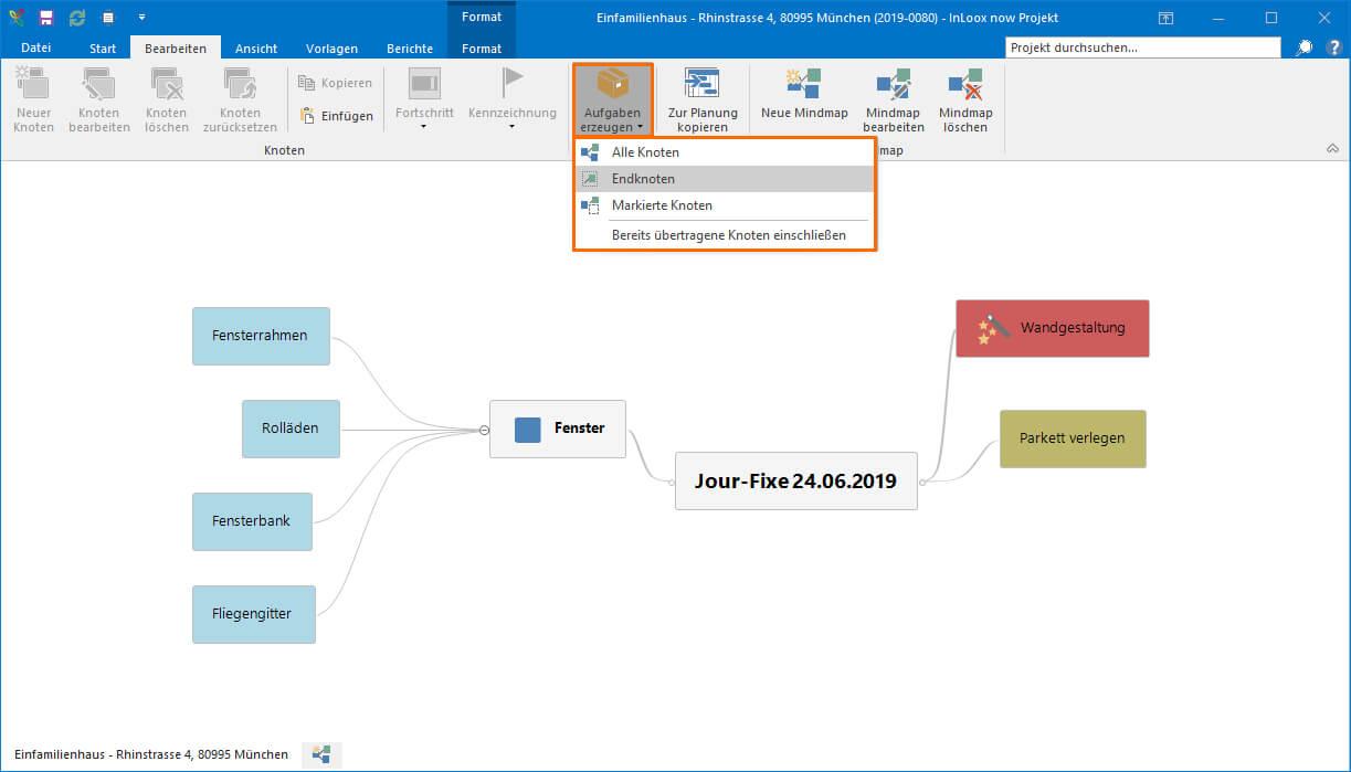 Nutzen Sie Mindmaps, um Team-Meetings zu strukturieren, und übertragen Sie die Aufgaben dann in Ihre Priorisierungs-Matrix