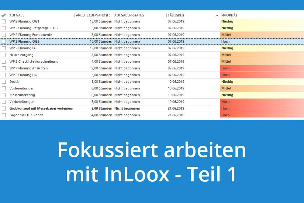 Fokussieren statt Multitasking - So hilft InLoox Ihnen bei der Selbstorganisation