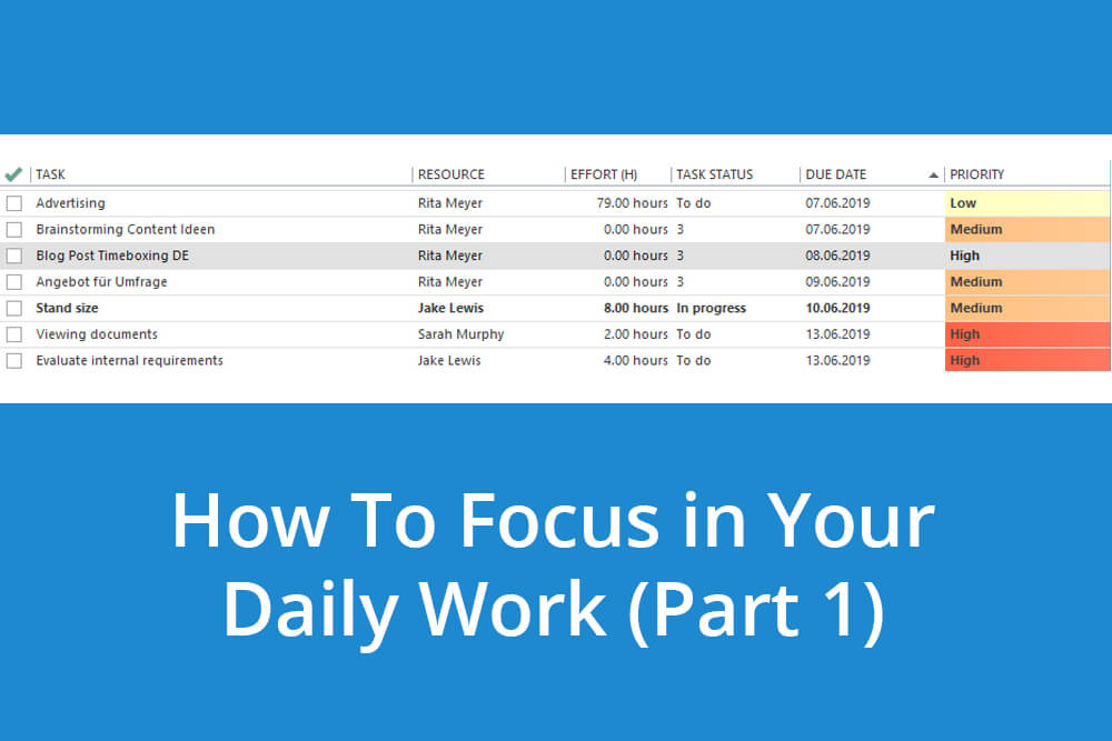 How to Focus in Your Daily Work with InLoox (Part 1): Task Management