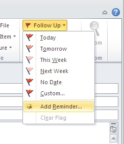 Follow-up flag in Outlook