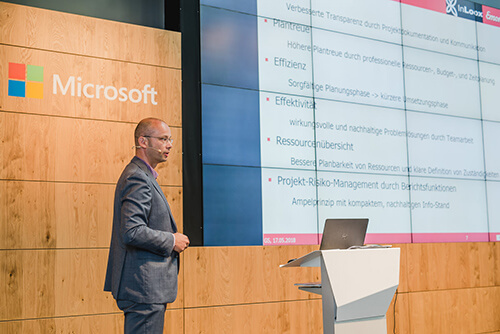 InLoox Insider Tag 2018 in Berlin: Referent Gunnar Stellmacher, Emons Spedition GmbH