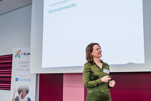 """InLoox Insider Tag 2018: InLoox Vortrag """"Kleine Griffe, große Wirkung: InLoox im Arbeitsalltag"""" von Carola Moresche"""