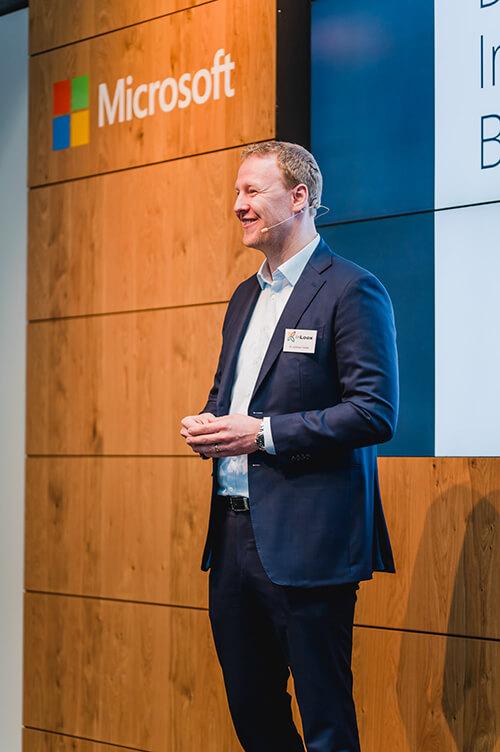 Eröffnung des 5. InLoox Insider Tags durch InLoox Gründer und Geschäftsführer Dr. Andreas Tremel (Foto: ©InLoox GmbH; Fotografin: Mica Zeitz)