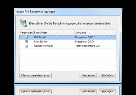 Individuelle Projektbenachrichtigungen - InLoox PM 7.5