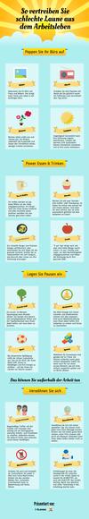Infografik: So vertreiben Sie schlechte Laune bei der Arbeit
