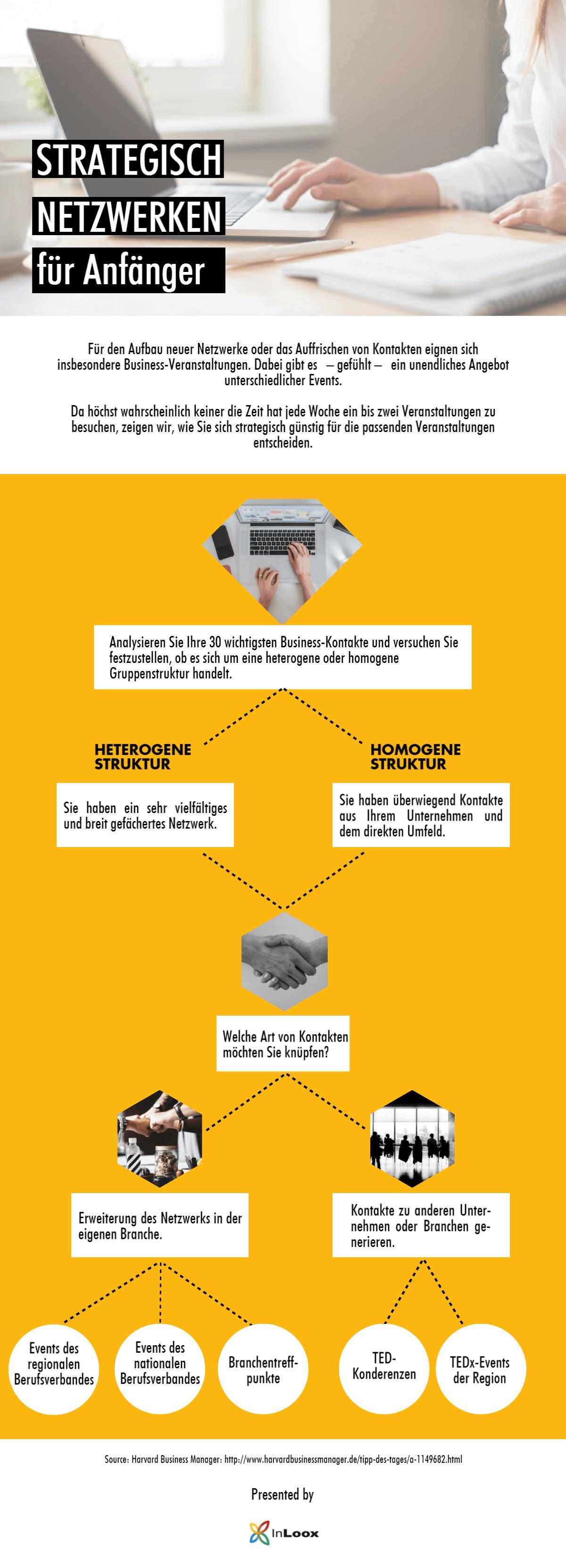 Infografik: Strategisch Netzwerken für Anfänger