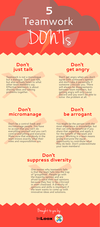 Infographic: 5 Teamwork Don'ts