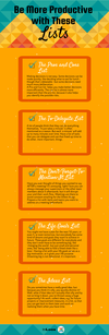 Be more productive with these lists Infographic