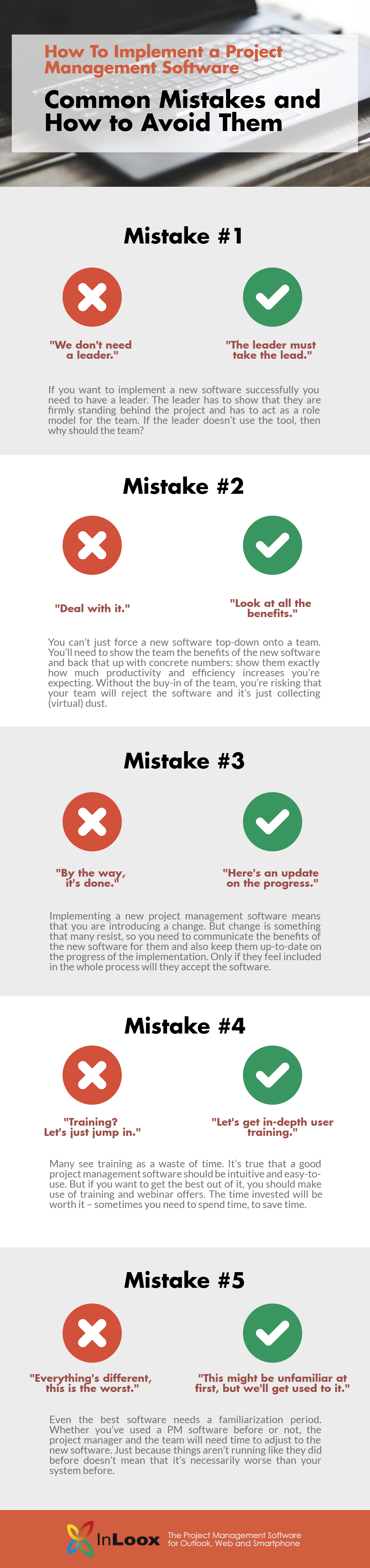 INFOGRAPHIC Implementing a Project Management Software: Common Mistakes and How to Avoid Them